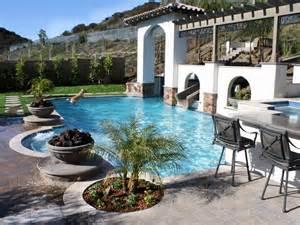 Backyard Pool With Slide Backyard Pool Slides Marceladick