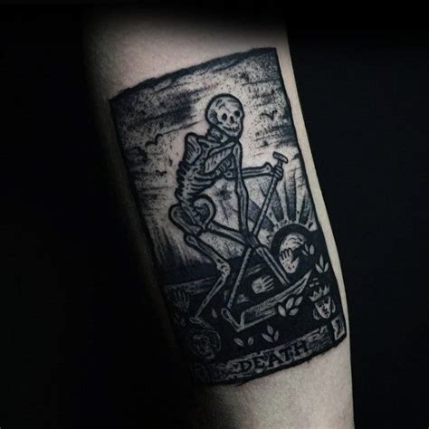 60 tarot tattoo designs for men playing card ink ideas