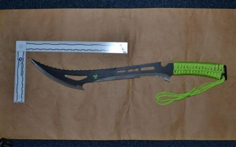youth   zombie killer machete  stab boy