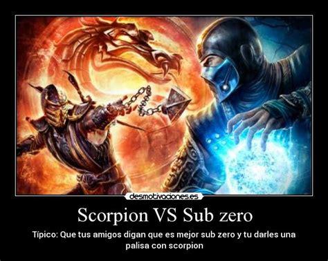 imagenes de scorpion vs sub zero scorpion vs sub zero desmotivaciones