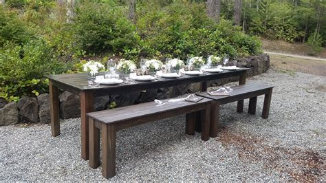 farm style bench table bench chair rentals olympic farm style events