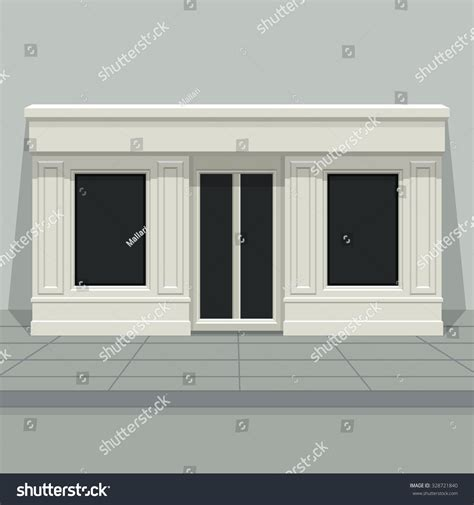 facade shop store boutique glass windows stock vector