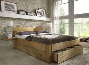 doppelbett mit schubladen bett mit schubladen echtholz kiefer massiv kiefern m 246 bel