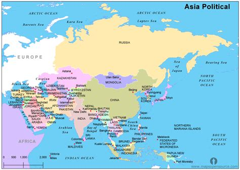 political map of asia asia political map