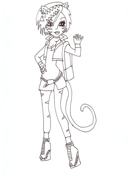 Monster High Characters And Pets Coloring Pages Coloring High Characters Coloring Pages