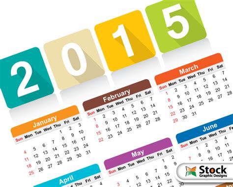 calendar design 2015 vector free download free colorful calendar 2015 vector template vector