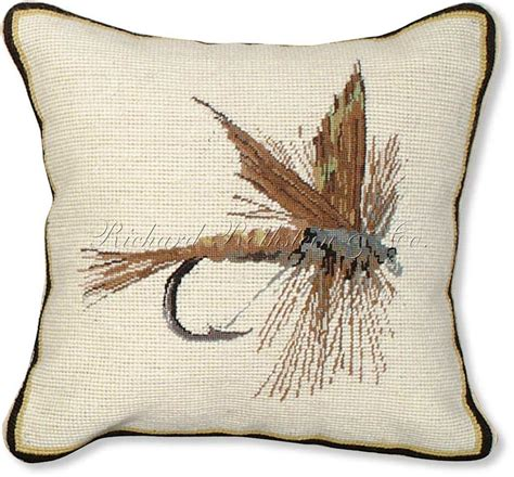 Wildlife Pillows by Fly Fishing Throw Pillows March Brown Fly Mixed