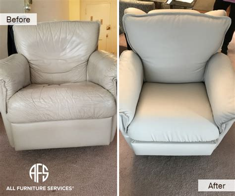 leather re upholstery service gallery before after pictures all furniture services 174