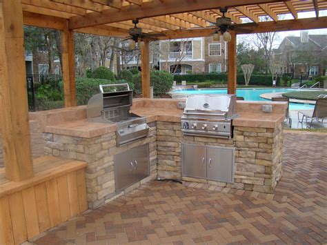 patio l outdoor kitchen designs offering different cooking spaces