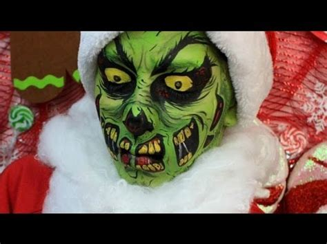 zombie grinch tutorial twisted christmas the grinch zombie makeup tutorial youtube