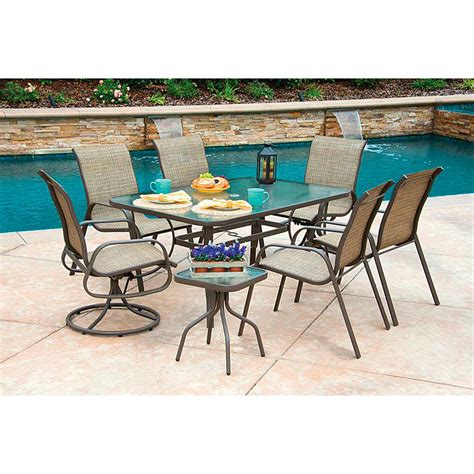 8 piece castlecreek shale island patio dining set 624351 patio furniture at sportsman s guide