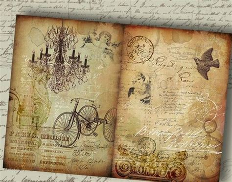 vintage wallpaper craft ideas old storyboard no2 two large printable backgrounds