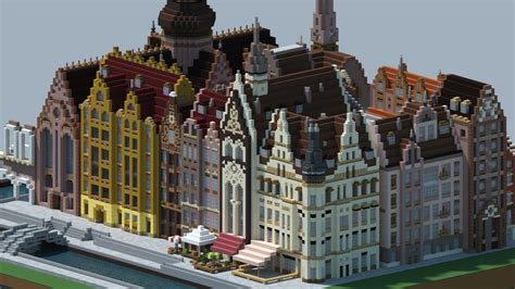 European House european inspired city minecraft project