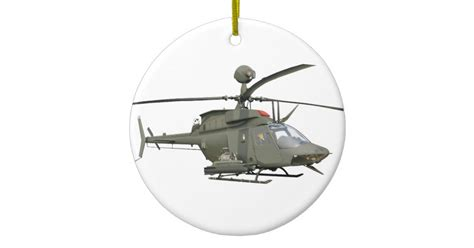 helicopter christmas ornament kiowa warrior helicopter ornament zazzle