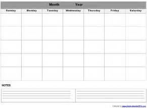 Blank Calendar 2014 Template by 5 Best Images Of Monthly Calendar Printable Landscape