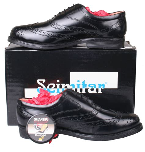 mens black leather formal brogue dress shoes size 6 7 8 9 10 11 12 13 14 ebay