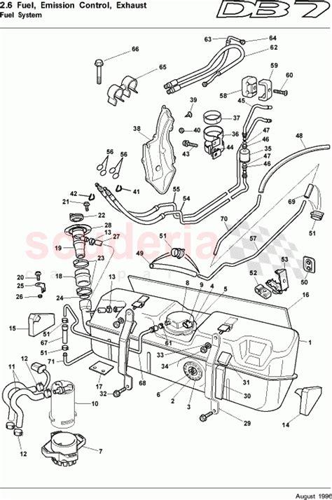 aston martin db  fuel system parts scuderia car parts