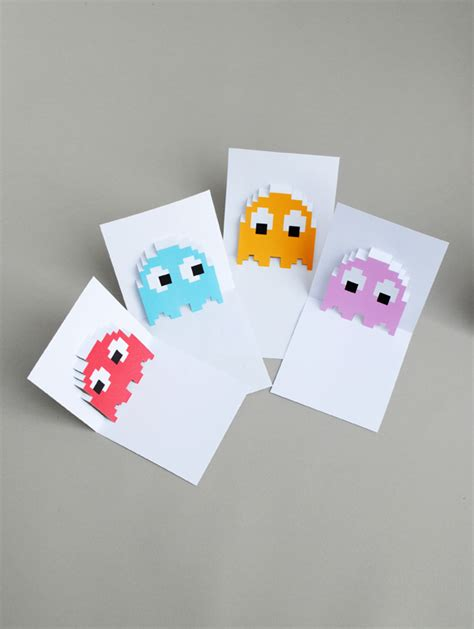 sorry pop up card template pacman ghost popup cards minieco