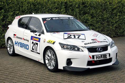 lexus racing car lexus ct200h race car to debut at the nurburgring