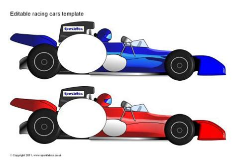race car template editable racing car templates sb6320 sparklebox