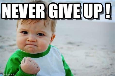 Never Give Up Meme - never give up success kid original meme on memegen