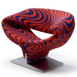 Modern Fabric Upholstery Ribbon Chair In Momentum Blue Flame