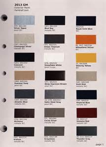 gm color gm paint chip colors autos post