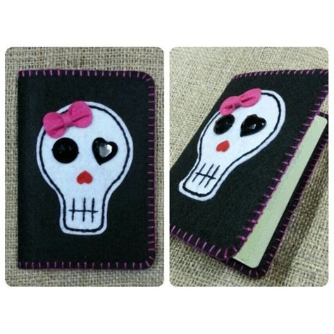 Handmade Passport Cover - skull passport cover ilovehandmade my handmade felt