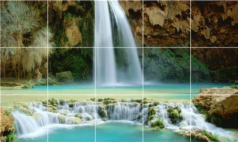 ceramic wall tile murals waterfalls photo shower tile mural w037