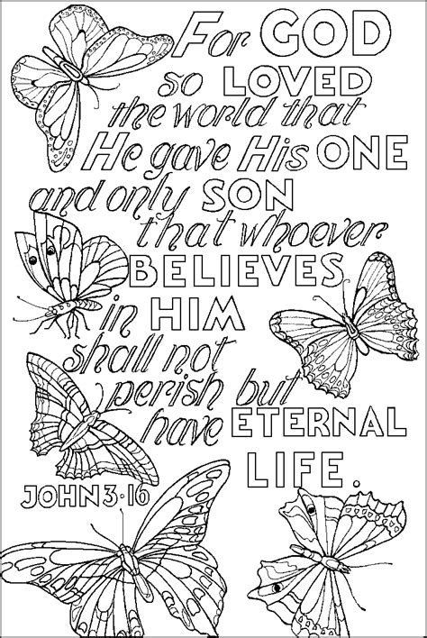 john 3 16 verse coloring pages about jesus god s love to