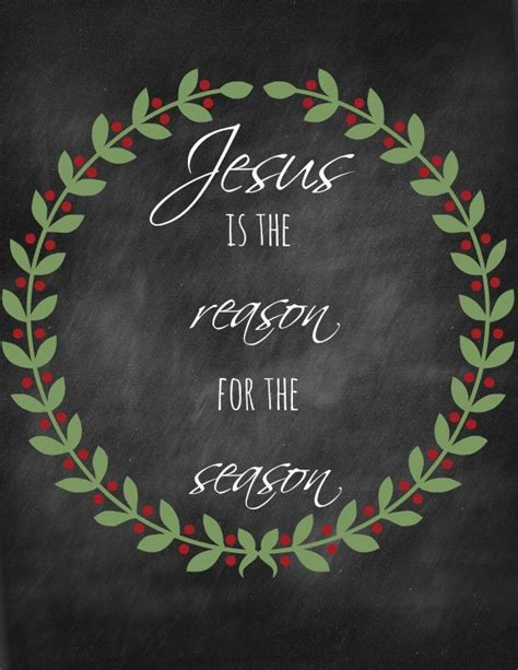 jesus   reason   season printable christmas