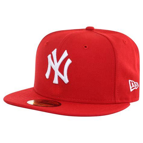 gorras de beisbol new era gorra new era 5950 mlb new york yankees rojo y blanco