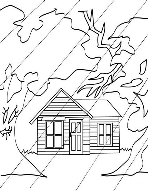 de desastres naturales para colorear colorea tus dibujos dibujo de casa bajo la lluvia para colorera