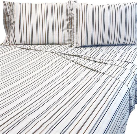 Striped Bed Sheets by Bentley Bed Sheet Set Striped Bedding Accessories