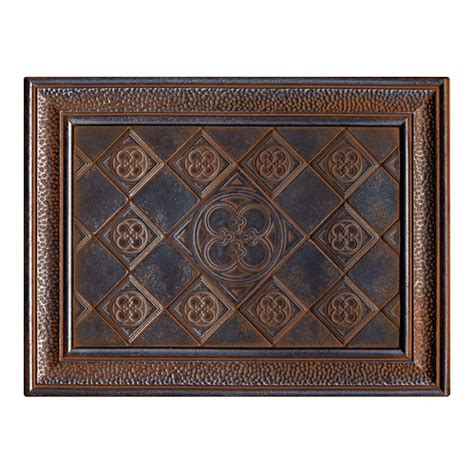 home depot decorative tile expo castle metals 12 in x 16 in wrought iron metal clover mural wall tile cm021216deco1p