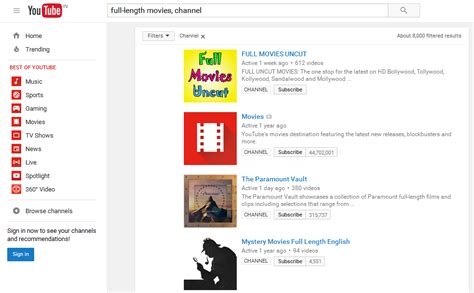 full movies on youtube how to find full length movies on youtube
