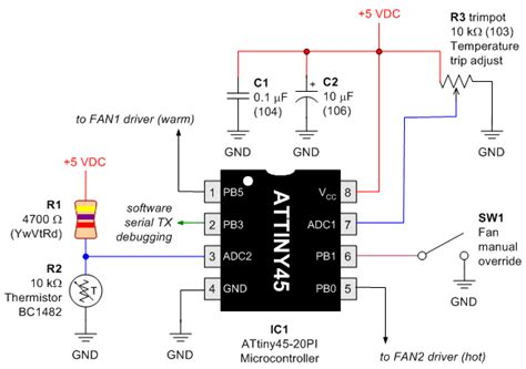 fixed resistor schematic schematic of fixed resistor with thermistor voltage divider and potentiometer voltage divider