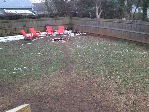 how to cover up mud in backyard unwanted dog paths need landscaping solution