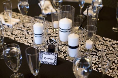 black and wedding centerpieces with in the wedding cup