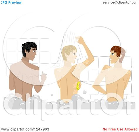 College Guys Shower by Clipart Of College Guys Bathing In A Communial Shower