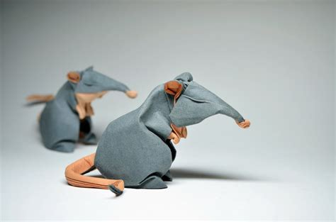 Rat Origami - origami rats by htquyet on deviantart