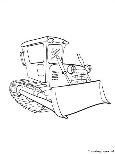 Dinotrux Dozer Coloring Page Coloring Pages Bulldozer Coloring Pages
