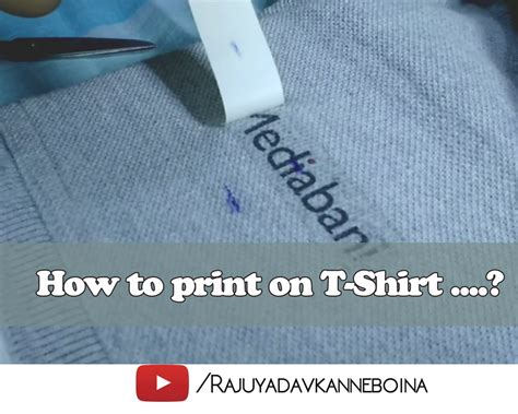 learn how to print on t shirts fabric using transfer