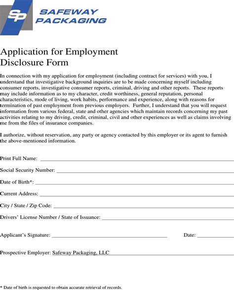 safeway application form safeway application form for free page 5