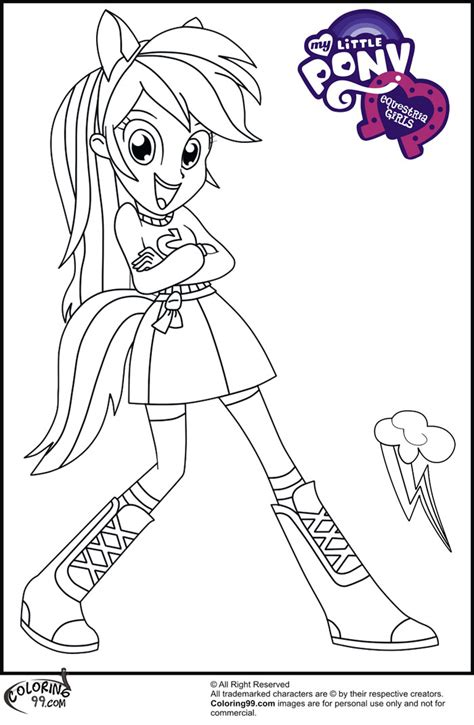 Mlp Equestria Girls Coloring Pages Free Printable My Pony Equestria Coloring