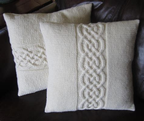 Knit Pillow Pattern by Celtic Knot Pillow Cover By Ladyship Craftsy