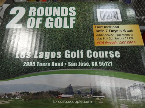 Gift Cards For Golf Courses - los lagos golf course gift card