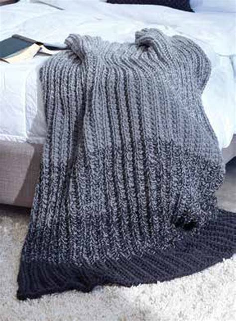 ombre knit blanket ombre ridge knit blanket in caron one pound downloadable pdf