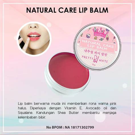 Pelembab Caring care lip balm by pretty white memberikan bibir indah
