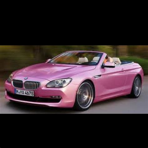 pink drop top m6 bmw color pink